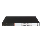 250W 16 PoE+ Gigabit PoE Switch with + 2 SFP ports SA-PS16G