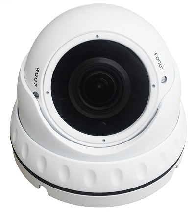 4 in 1 TVI 1080P White Big Eyeball Varifocal Surveillance Camera